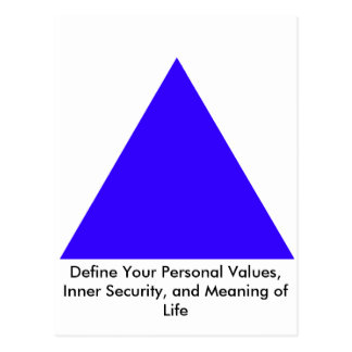 Define Your Personal Values, Inner Security Gifts Postcard
