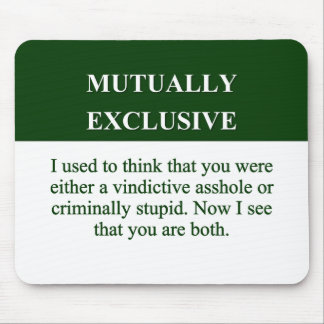 Defining the Meaning of Mutually Exclusive (2) Mouse Pad