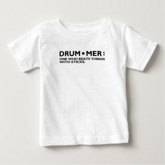 Definition of a Drummer Music Drum Sticks Rock Ban Baby T-Shirt