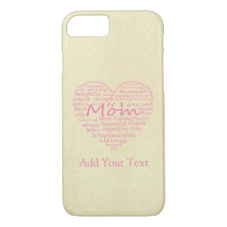 Definition Of A Mother-Heart Outline by STaylor iPhone 8/7 Case