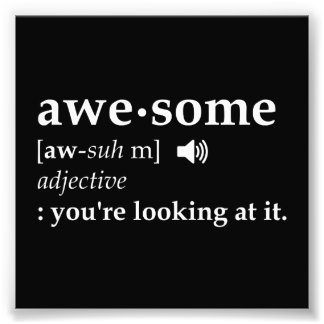Definition of Awesome You're Looking at it Art Photo