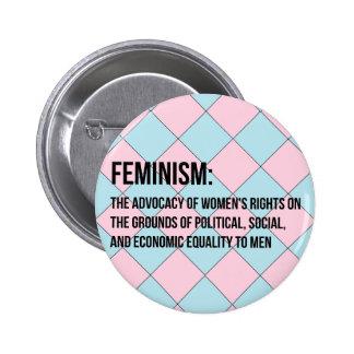 Definition of Feminism 6 Cm Round Badge