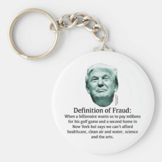 Definition of Fraud - TRUMP Basic Round Button Key Ring