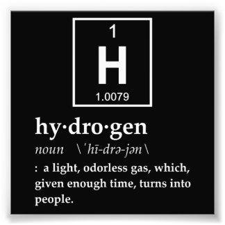 Definition of Hydrogen Photo