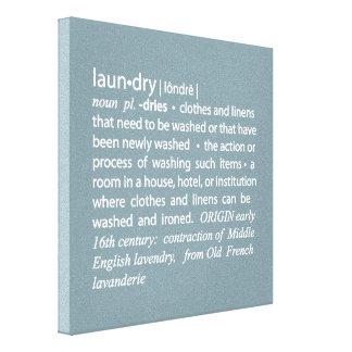 Definition of Laundry Crisp Blue & White Canvas Prints