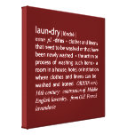 Definition of Laundry Crisp Red & White Stretched Canvas Prints