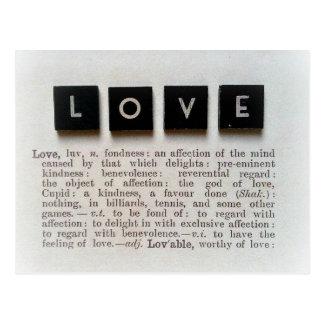 Definition of LOVE Postcard