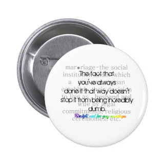 Definition of Marriage-Straight for gay marriage 6 Cm Round Badge