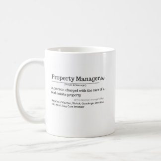 Definition of Property Manager Coffee Mug