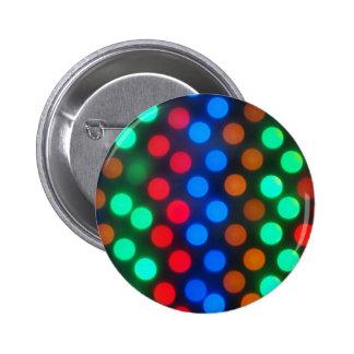 Defocused and blur image of multi-colored lights 6 cm round badge