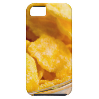 Defocused and blurred image of dry corn flakes iPhone 5 case