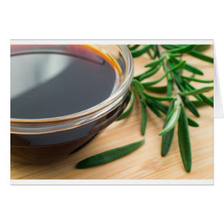 Defocused and blurred image of soy sauce card