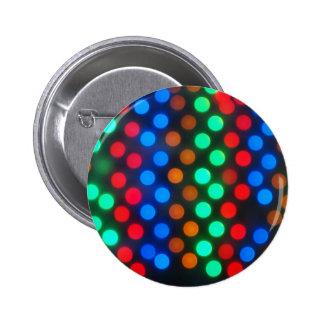 Defocused colored lights out of focus 6 cm round badge