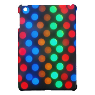 Defocused colored lights out of focus iPad mini cover