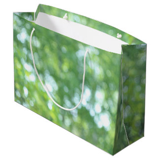 Defocused nature large gift bag