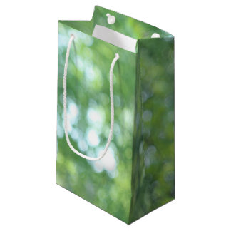 Defocused nature small gift bag