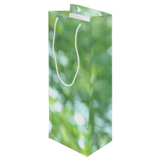 Defocused nature wine gift bag
