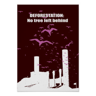 Deforestation No tree left behind Poster