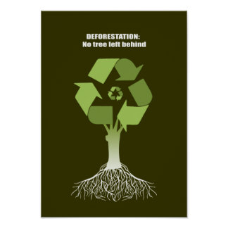 Deforestation No tree left behind Print