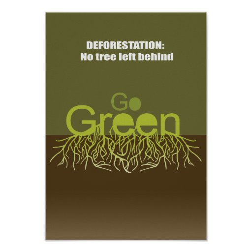 Deforestation = No tree left behind Posters