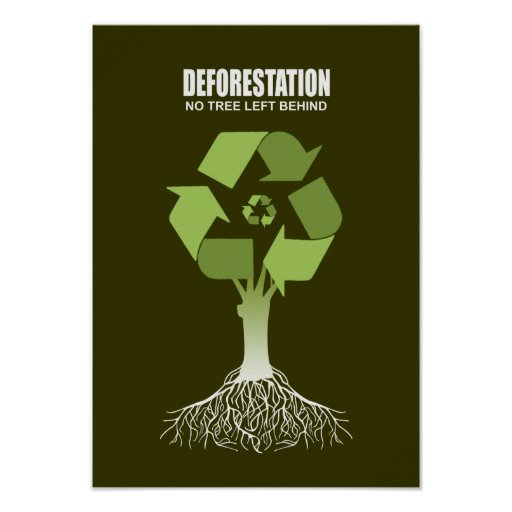 DEFORESTATION - NO TREE LEFT BEHIND POSTERS