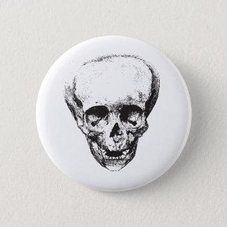 Deformed Skull 6 Cm Round Badge