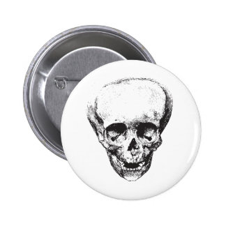 Deformed Skull 6 Cm Round Badge