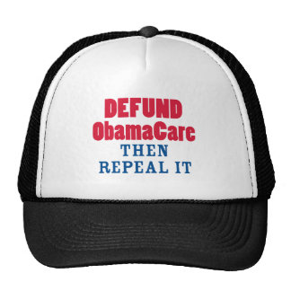 Defund ObamaCare Then Repeal It Cap