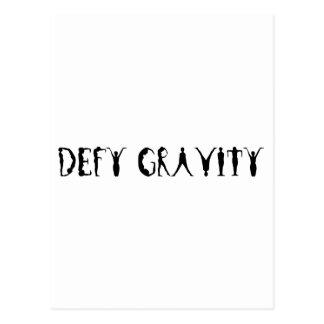 Defy Gravity Postcard