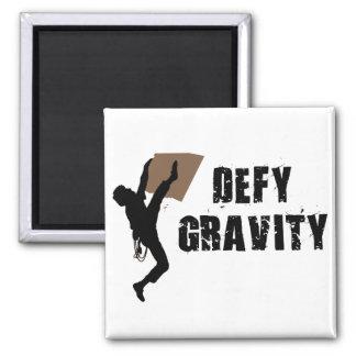 Defy Gravity Square Magnet