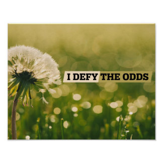 Defy The Odds Poster