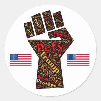Defy Trump Round Sticker