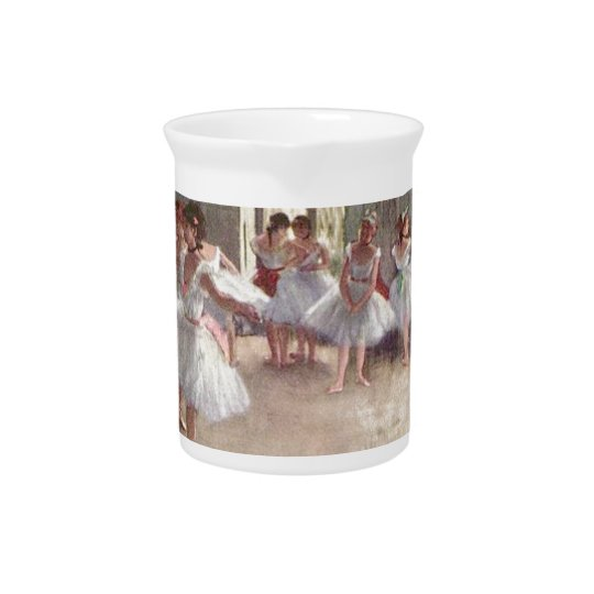 degas ballerina art drink pitchers