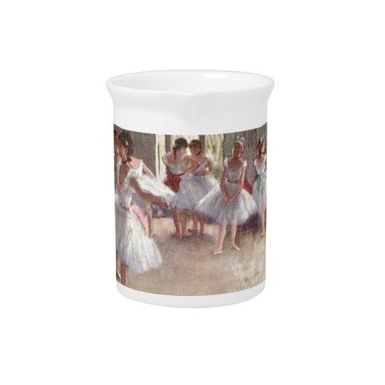 degas ballerina art pitcher