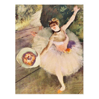 Degas Ballerina with Bouquet of Flowers Postcard
