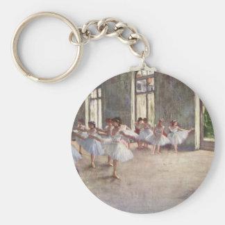 Degas Ballet Dancers Basic Round Button Key Ring