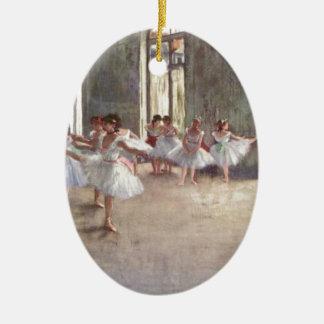 Degas Ballet Dancers Ceramic Ornament