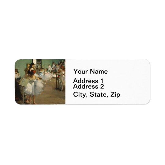 Degas Dance Class Ballet Dancers Return Address Label