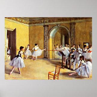 Degas - Dance Class Poster