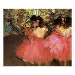 Degas Dancers in Pink Poster