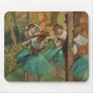 Degas Dancers Pink and Green Mouse Pad