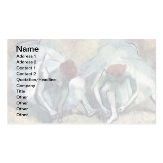 Degas - Dancers Tying Shoes Business Card Template