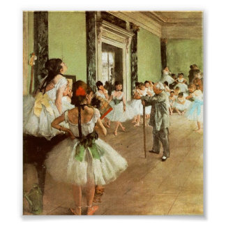 Degas Dancing Class Poster