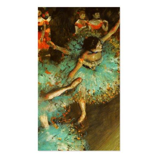 Degas Green Dancer Ballet Impressionist Business Card