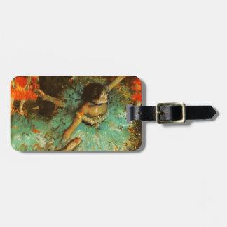 Degas Green Dancer Ballet Impressionist Luggage Tag