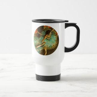 Degas Green Dancer Ballet Impressionist Travel Mug