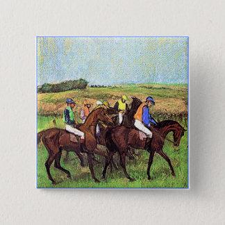 Degas' Horses 15 Cm Square Badge