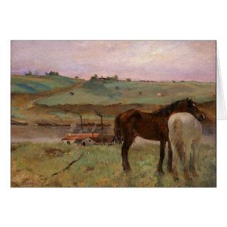 Degas Horses Fine Art Card