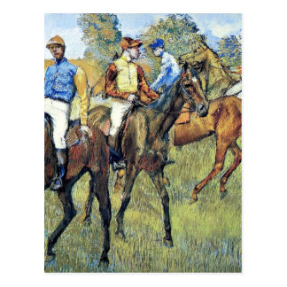 Degas - Race Horses, 1878, artwork Postcard