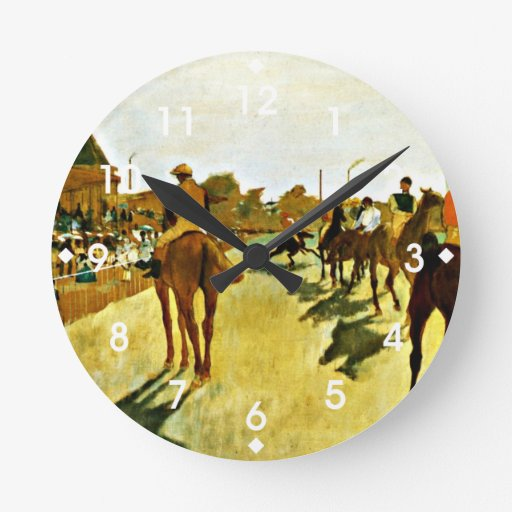 Degas: Racehorses Before the Stands Wallclock